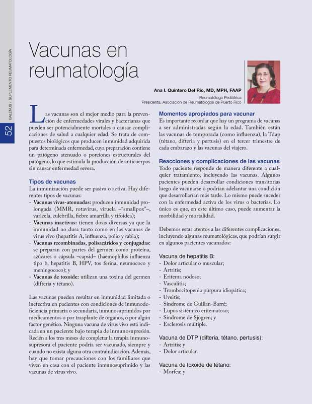 Vacunas en reumatología