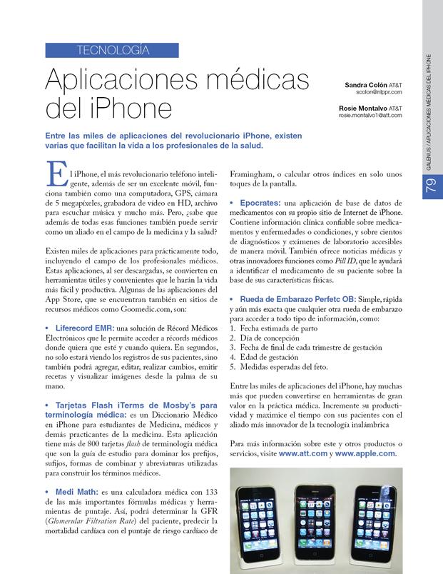 Comunicación: Aplicaciones médicas del iPhone