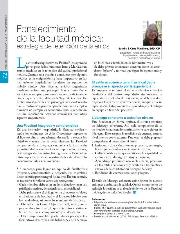 Fortalecimiento  de la facultad médica