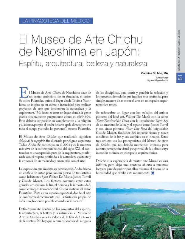 Pinacoteca del médico: El Museo de Arte Chichu de Naoshima