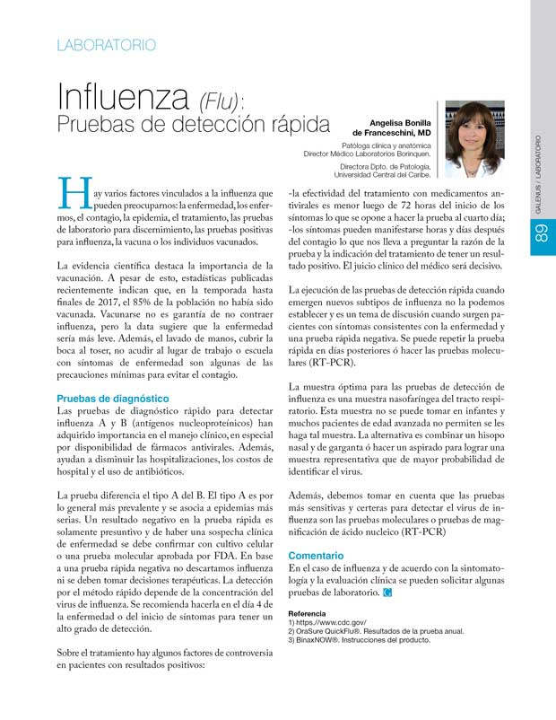 Influenza (Flu): Pruebas de detección rápida
