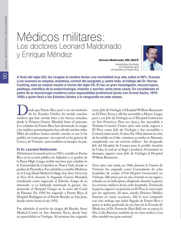 Historia: Médicos militares