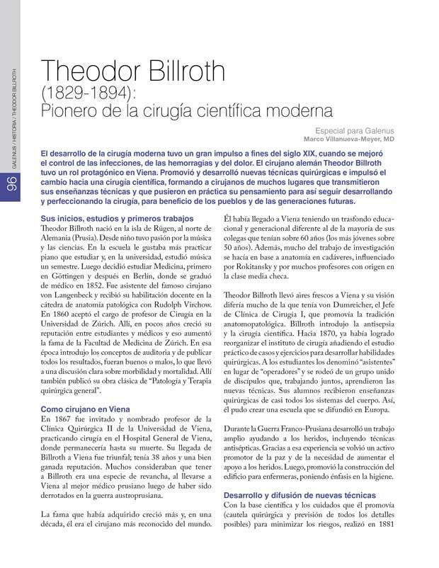 Historia: Theodor Billroth