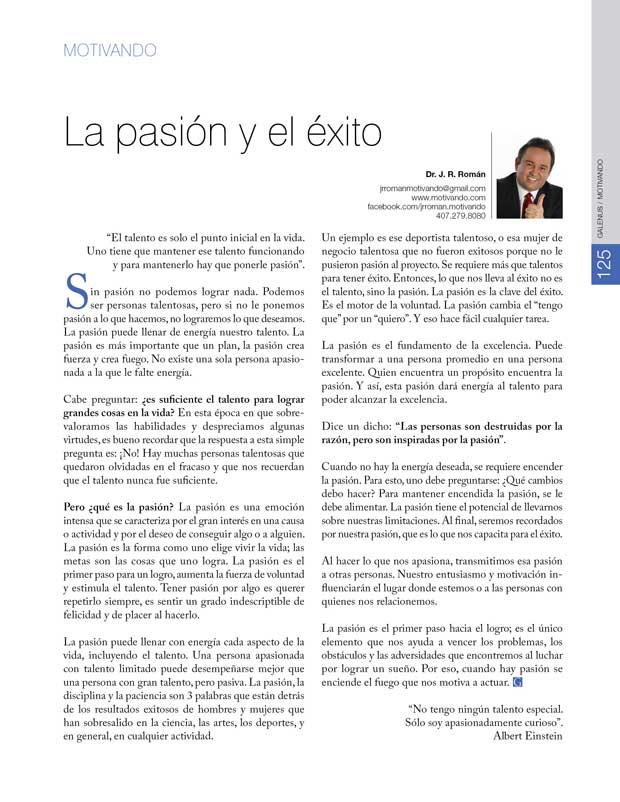 Motivando: La pasión y el éxito