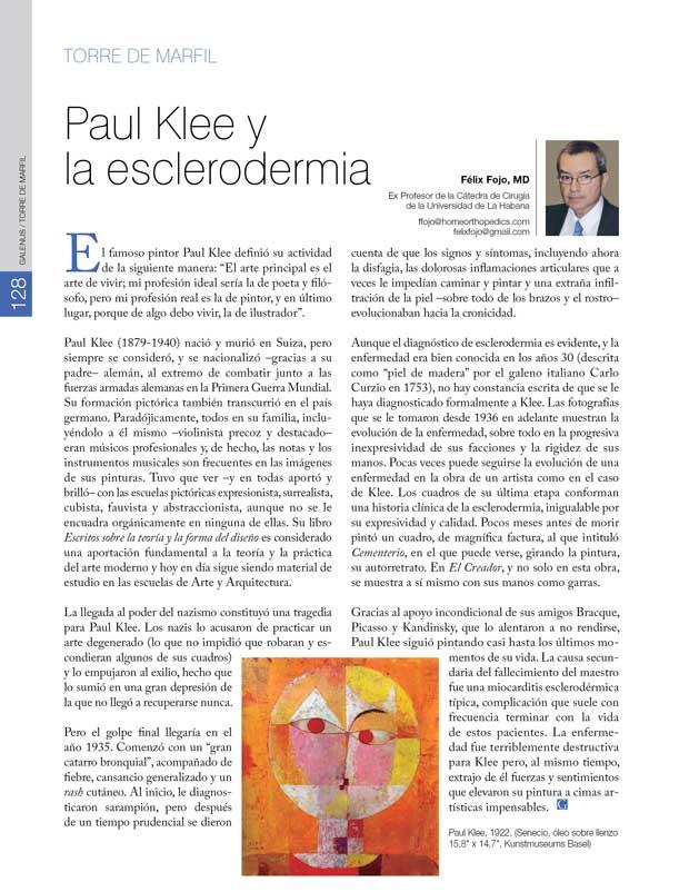 Torre de Marfil: Paul Klee y la esclerodermia