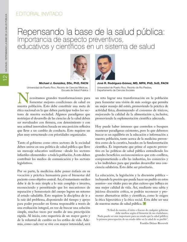 Repensando la base de la salud pública