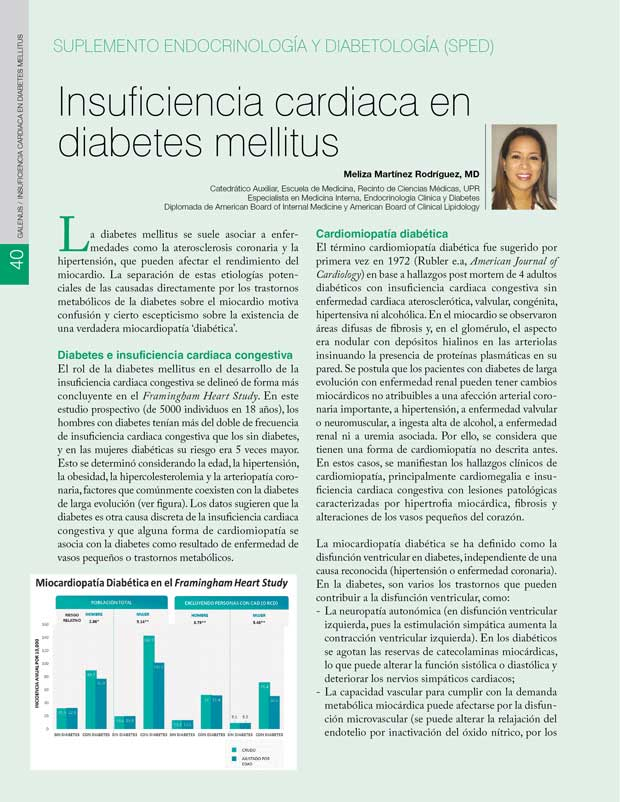 Insuficiencia cardiaca en diabetes mellitus