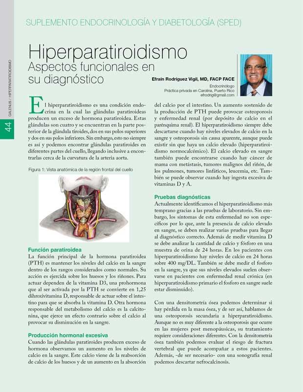 Hiperparatiroidismo Aspectos funcionales en su diagnóstico