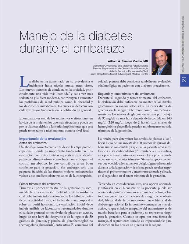 Manejo de la diabetes  durante el embarazo