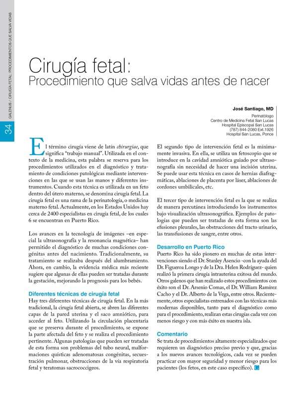 Cirugía fetal