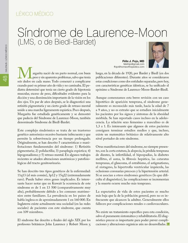 Léxico Médico: Síndrome de Laurence-Moon