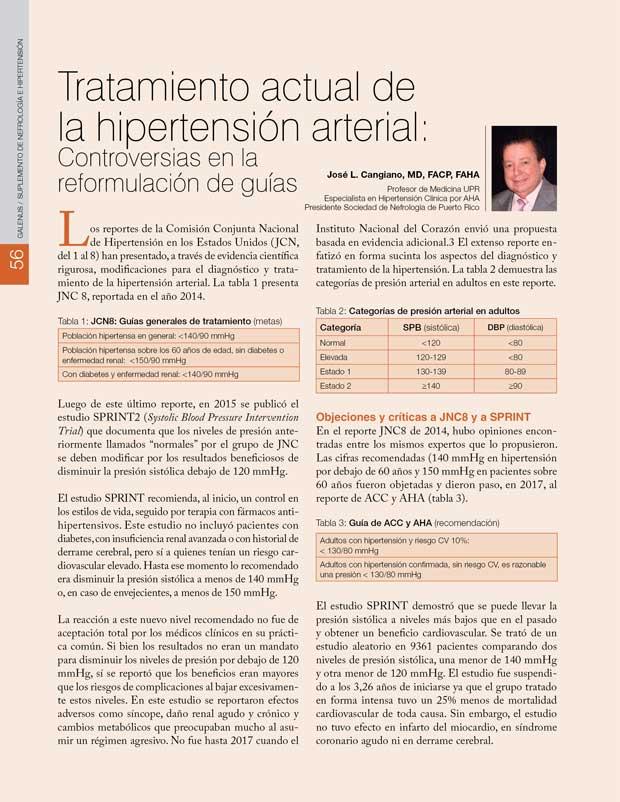 Tratamiento actual de la hipertensión arterial