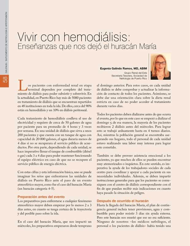 Vivir con hemodiálisis