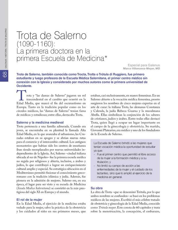 Historia: Trota de Salerno