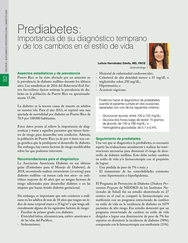 Prediabetes: Importancia de su diagnóstico temprano