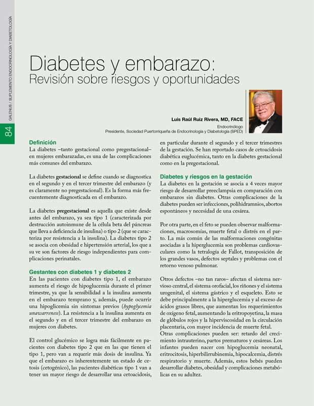 Diabetes y embarazo: Revisión sobre riesgos y oportunidades