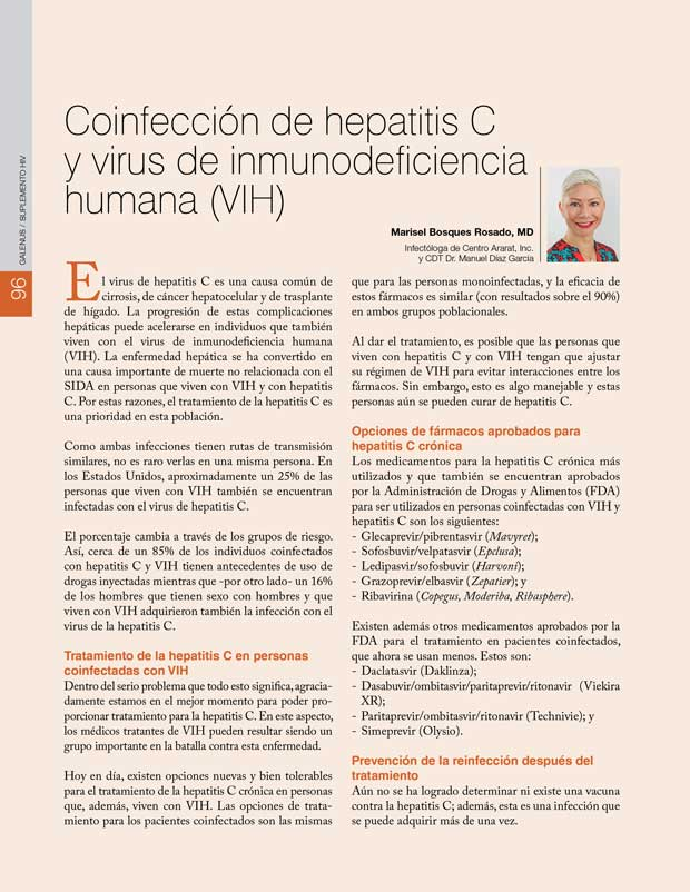 Coinfección de hepatitis C