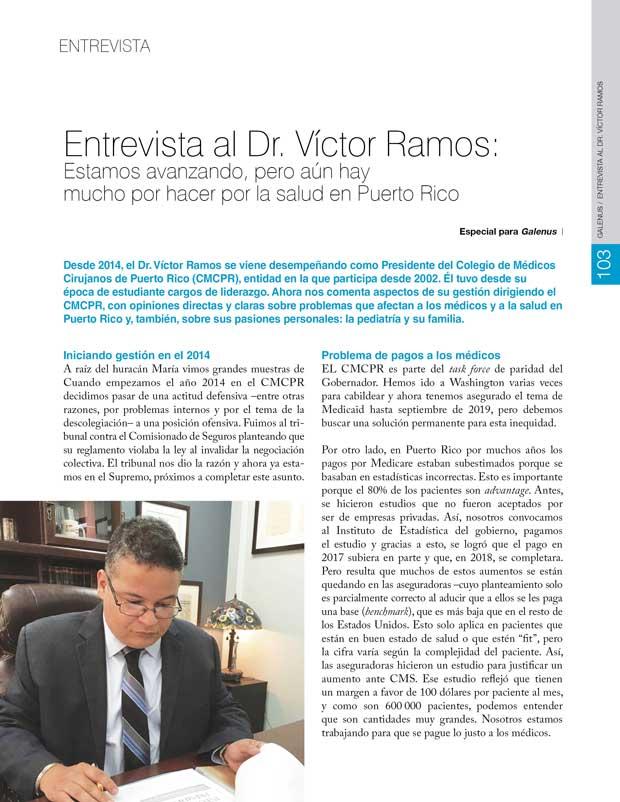 Entrevista al Dr. Víctor Ramos