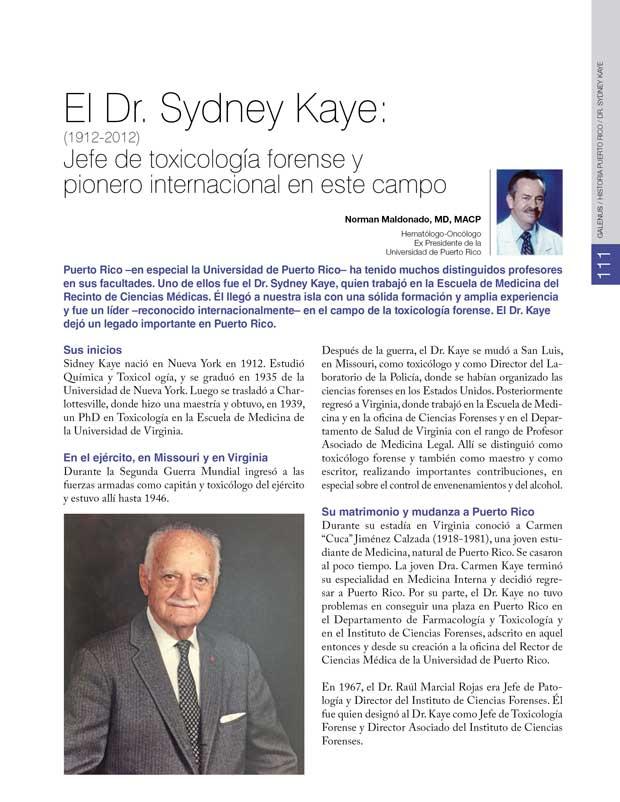 Historia: El Dr. Sydney Kaye