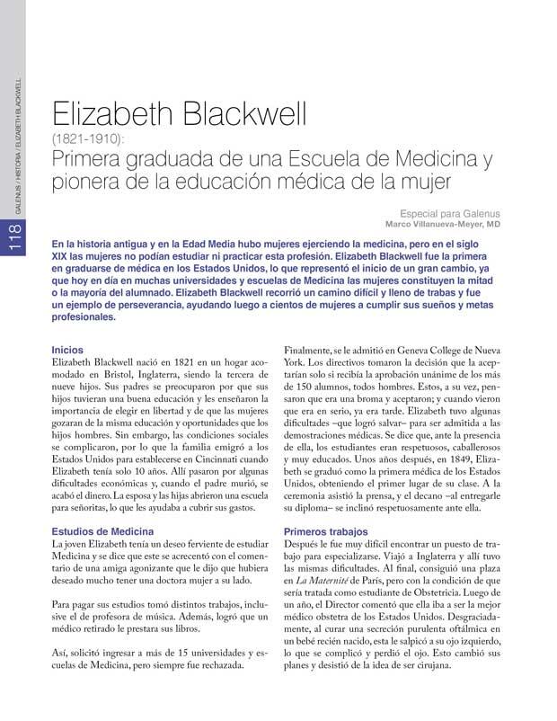 Historia: Elizabeth Blackwell