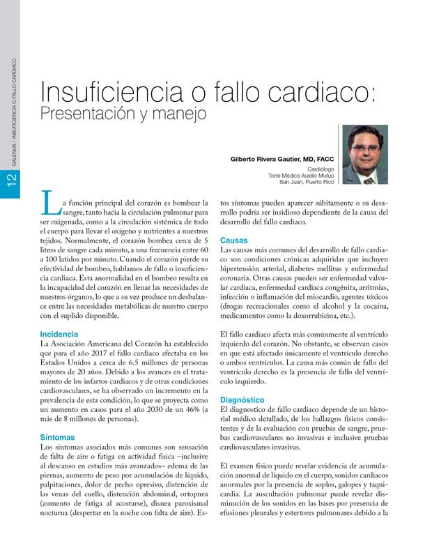Insuficiencia o fallo cardiaco