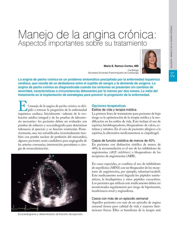 Manejo de la angina crónica