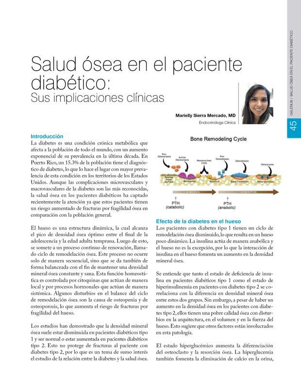 Salud ósea en el paciente diabético
