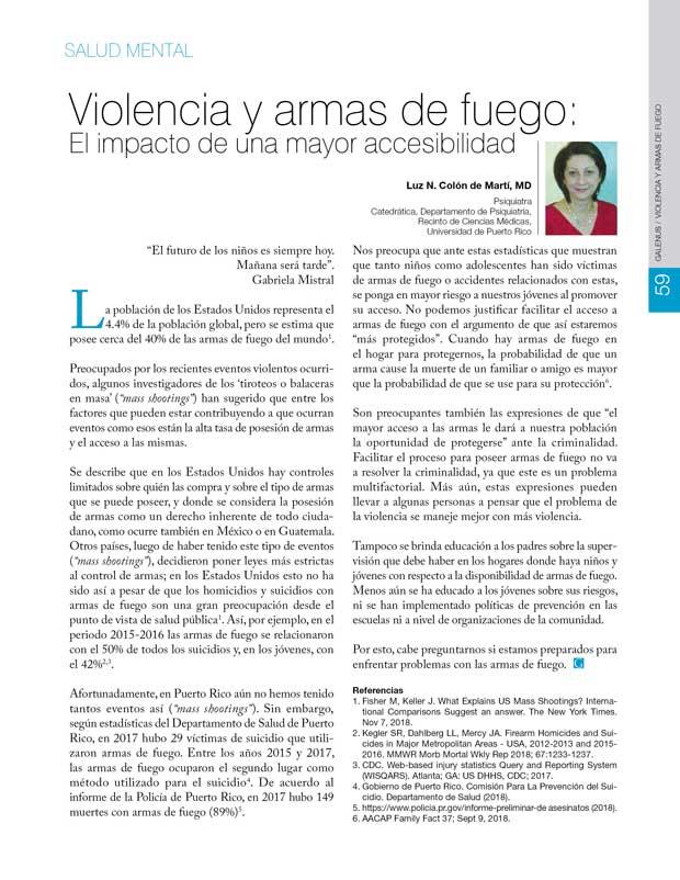 Violencia y armas de fuego