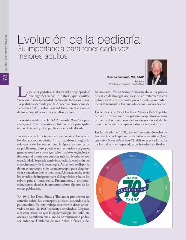 Evolución de la pediatría