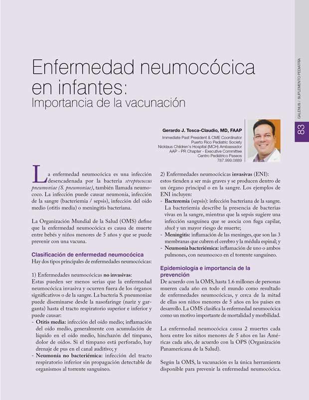 Enfermedad neumocócica en infantes