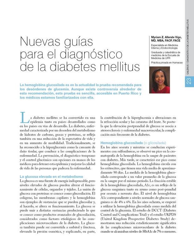 Nuevas guías para el diagnóstico de la diabetes mellitus