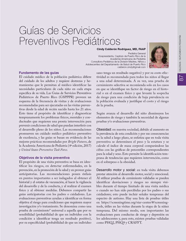 Guías de Servicios  Preventivos Pediátricos