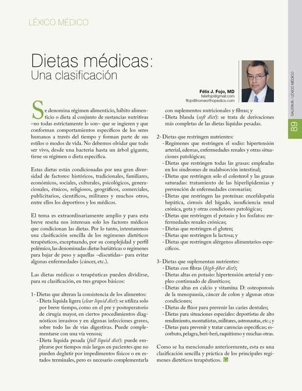 Léxico Médico: Dietas médicas