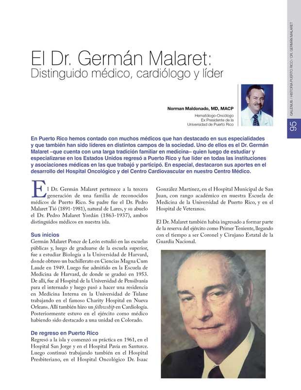 Historia: El Dr. Germán Malaret
