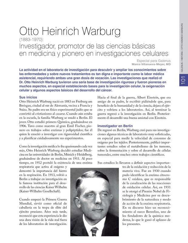 Historia: Otto Heinrich Warburg