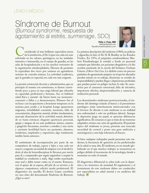 Léxico Médico: Síndrome de Burnout