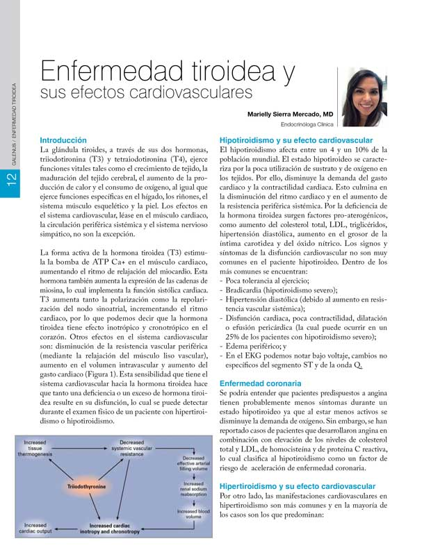 Enfermedad tiroidea y sus efectos cardiovasculares