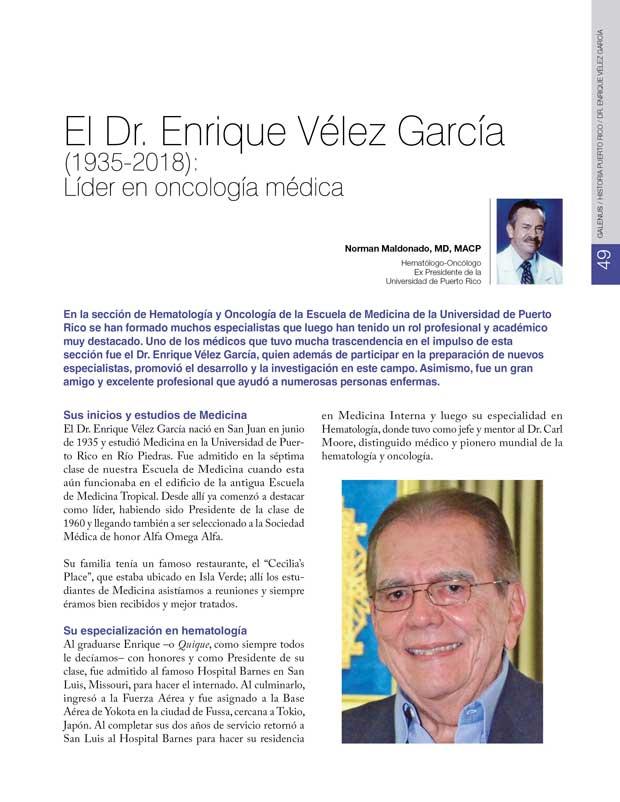 Historia: Dr. Enrique Vélez García