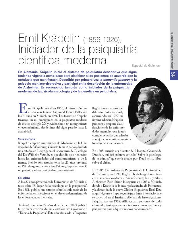 Historia de la Medicina: Emil Kräpelin (1856-1926), Iniciador de la psiquiatría científica moderna