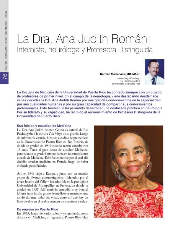 Historia: Dra. Ana Judith Román