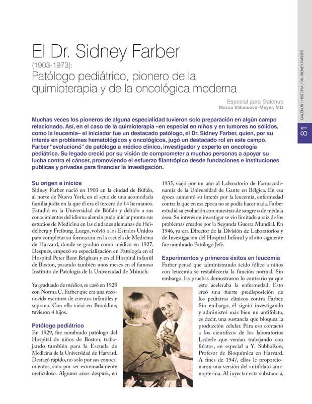 Historia: Dr. Sidney Farber