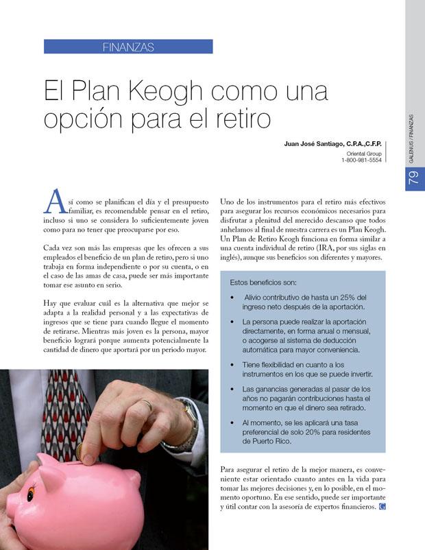 Finanzas: El Plan Keogh como una opción para el retiro