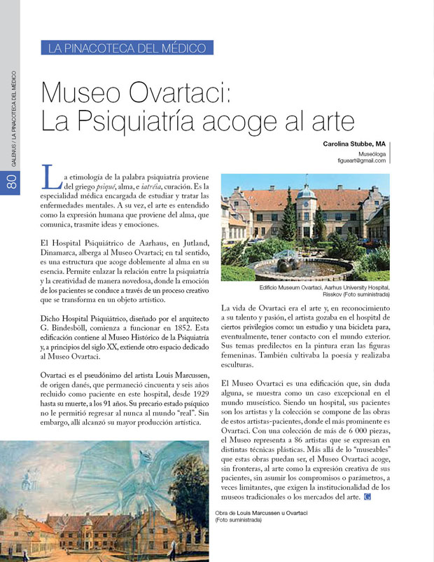 La pinacoteca del médico: Museo Ovartaci: La Psiquiatría acoge al arte