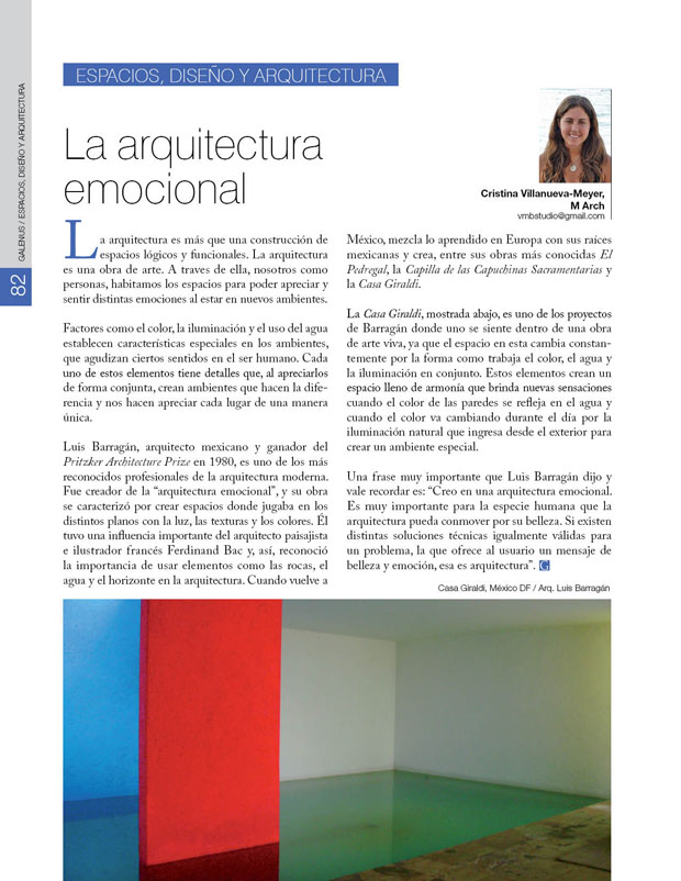 Espacios, diseño y arquitectura: La arquitectura emocional