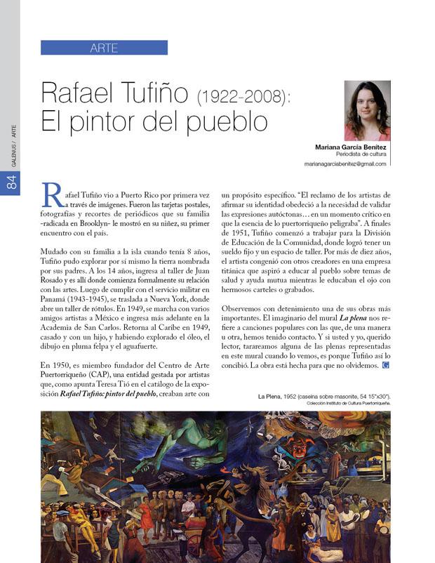 Arte: Rafael Tufiño (1922-2008): El pintor del pueblo
