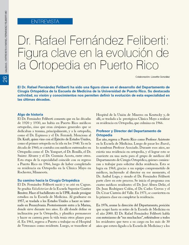 entrevista a Rafael Fernández Feliberti MD