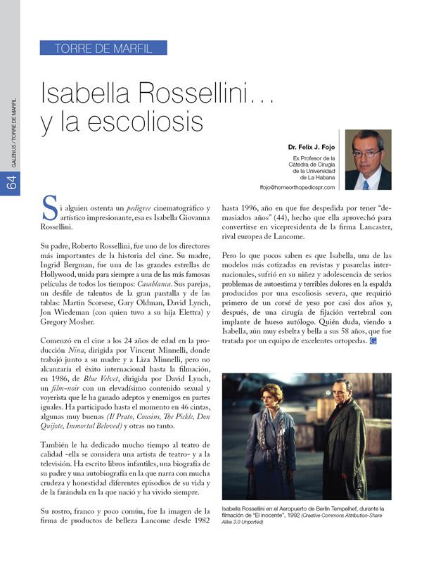 Torre de Marfil  / Isabella Rossellini…