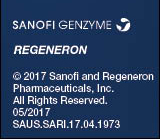 © 2017 Sanofi and Regeneron Pharmaceuticals, Inc., All Rights Reserved.  05/2017  SAUS.SARI.17.04.1973