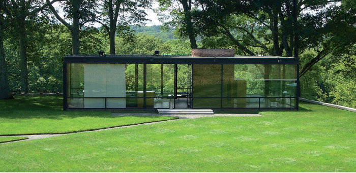 The Glass House ; Philip Johnson, Connecticut, USA. Foto : Staib ; cc 3.0.